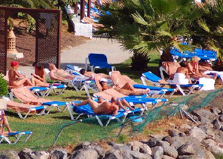 Nudismo en Fuerteventura (España). Foto tomada por Emilio del Prado
