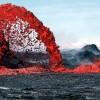 Fuentes de lava de los lagos africanos