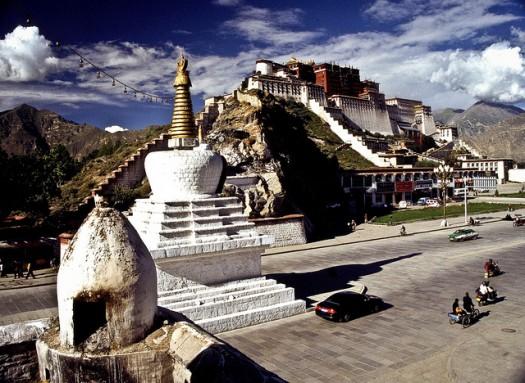 Vista del Palacio de Potala