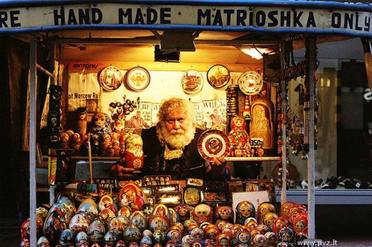 Matrioskas de Navidad rusas