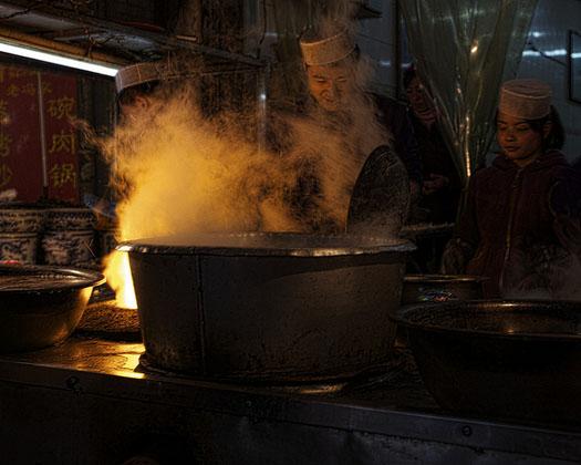 mercado musulmán de xian